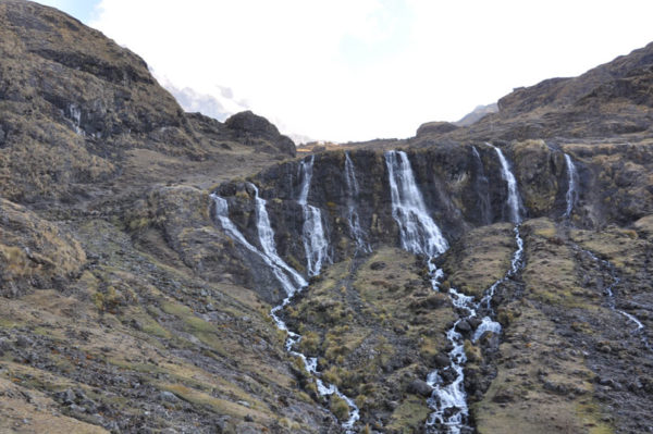 A-waterfall-on-the-Lares-Trek-in-Sacred-Valley